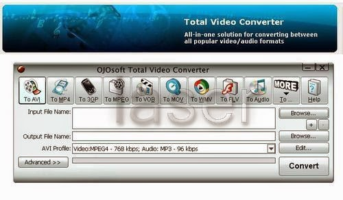 OJOsoft Total Video Converter dapat digunakan seperti iPhone video converte