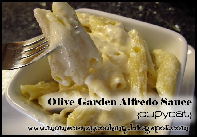 MOMS CRAZY COOKING: Olive Garden Alfredo Sauce {THIS WEEK'S CRAVINGS Linky Party #98}