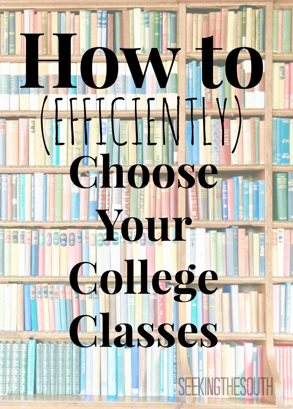 how to efficiently choose your college classes seeking the south how to efficiently choose your college classes