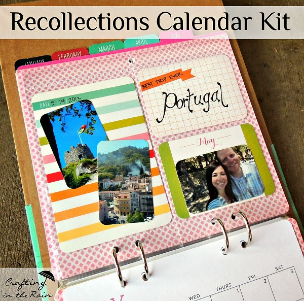 Calendar Kit Ideas : Photo calendar kit a great gift idea crafting in the rain