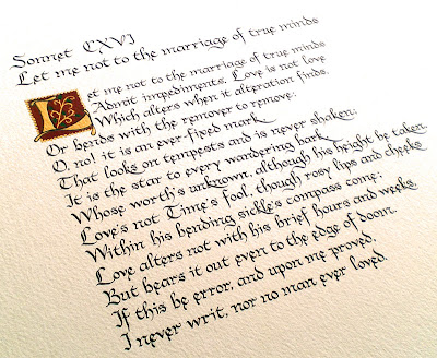 Sonnet 116 let me not to the marriage of true minds