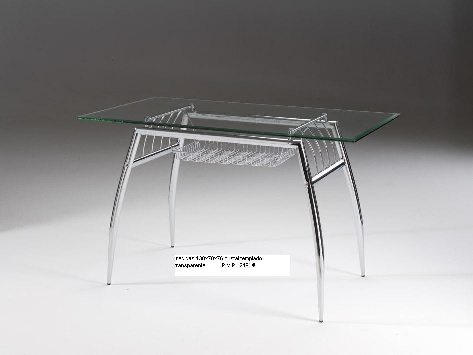 Outlet mobiliario oficina y hogar mesa de cristal 130x70x76 for Outlet mobiliario oficina