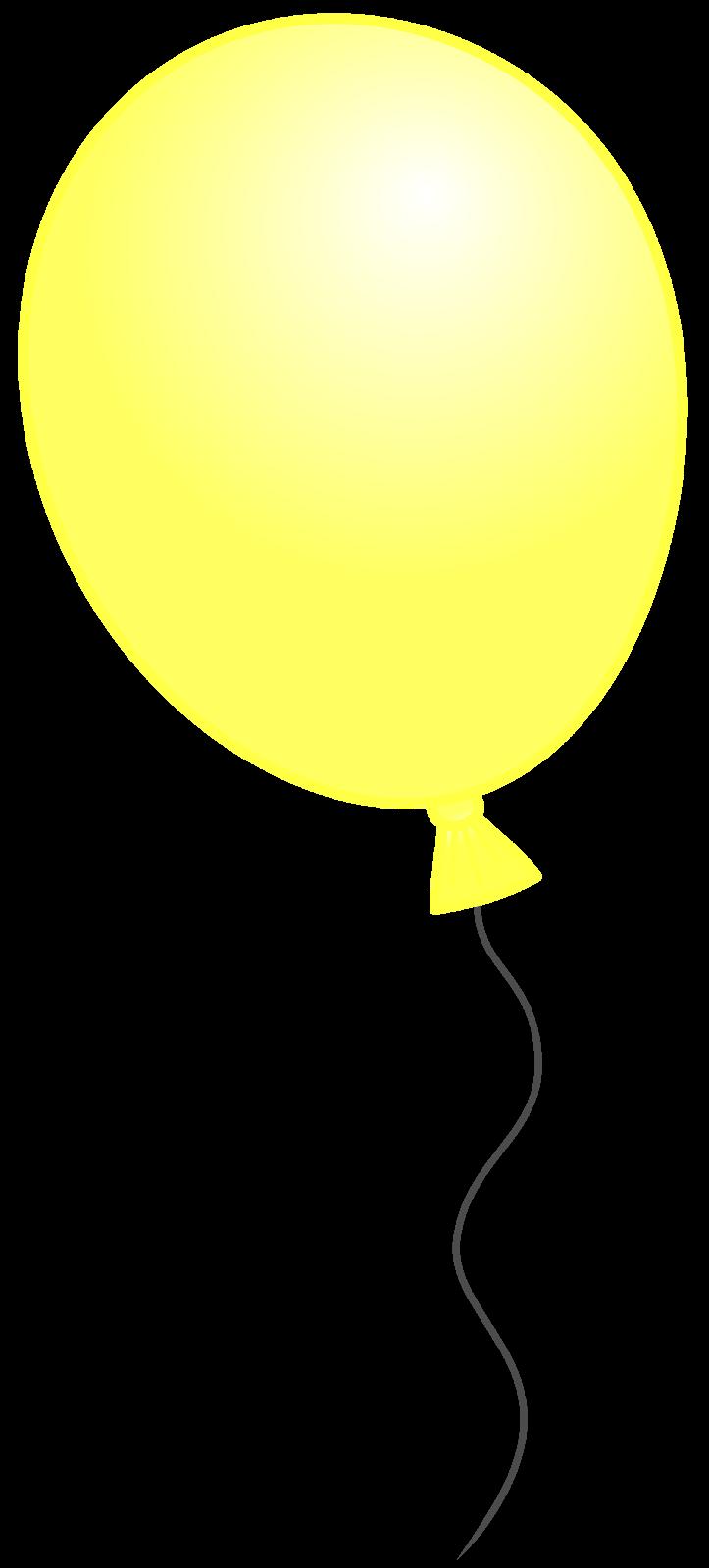 clipart yellow balloons - photo #10