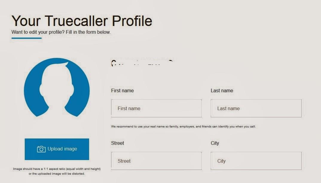TrueCaller Profile