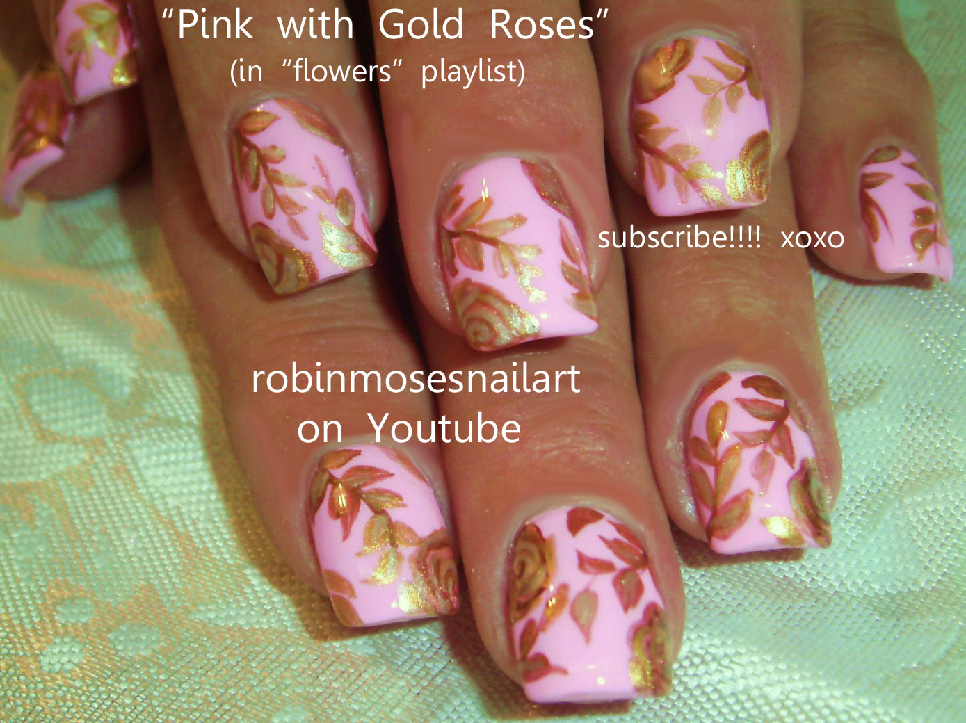 Rose Gold and Light Pink Nail Designs