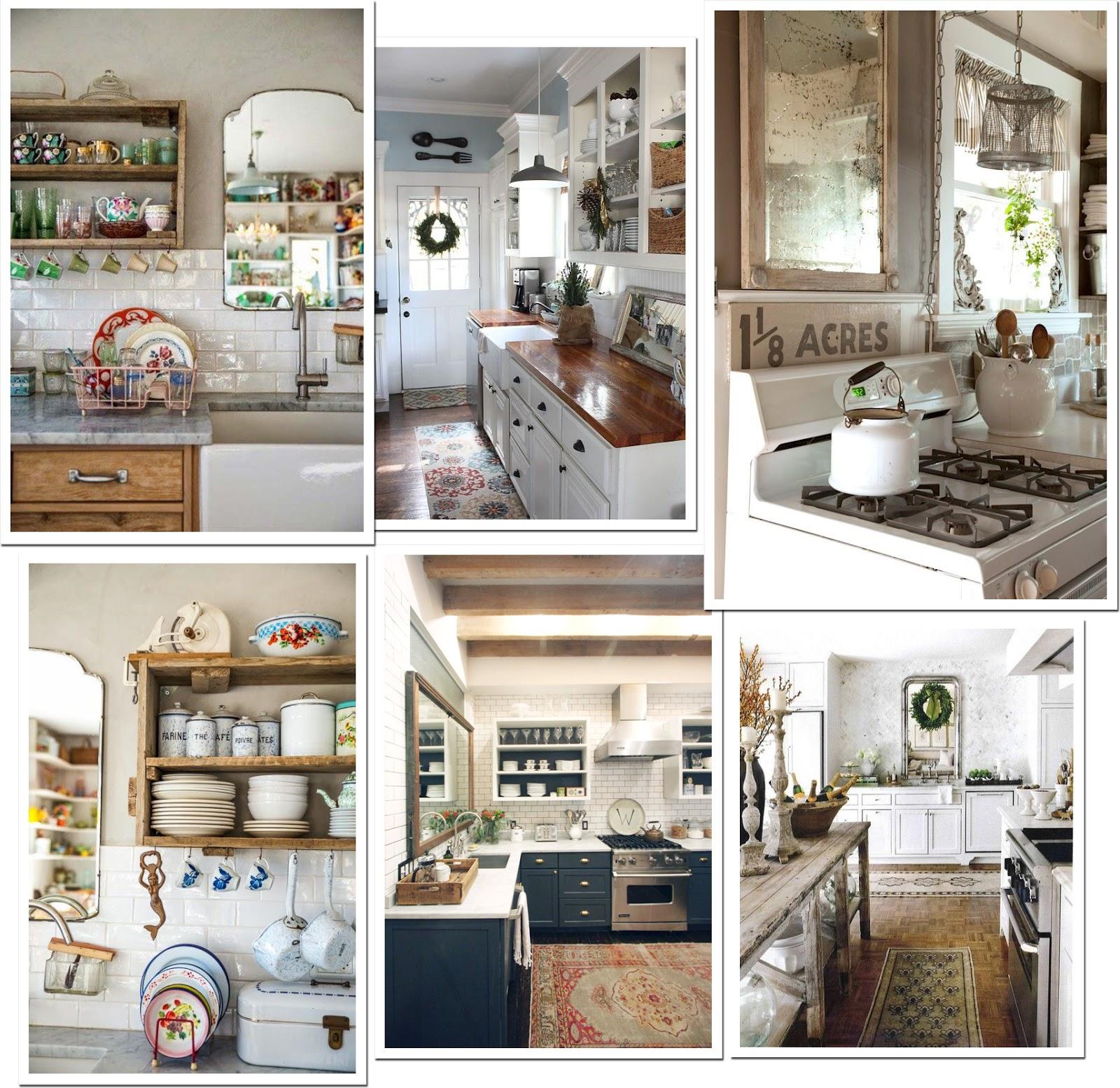 Uno specchio in cucina shabby chic interiors for Cabine per la colazione per cucine