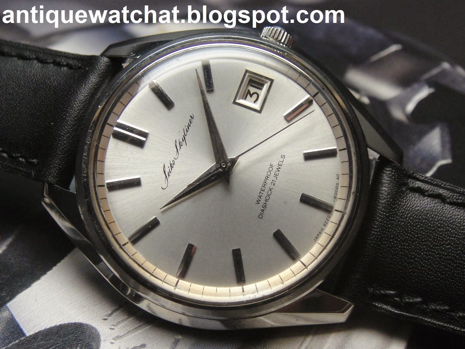 Antique Watch Bar  Seiko Skyliner Diashock 6222