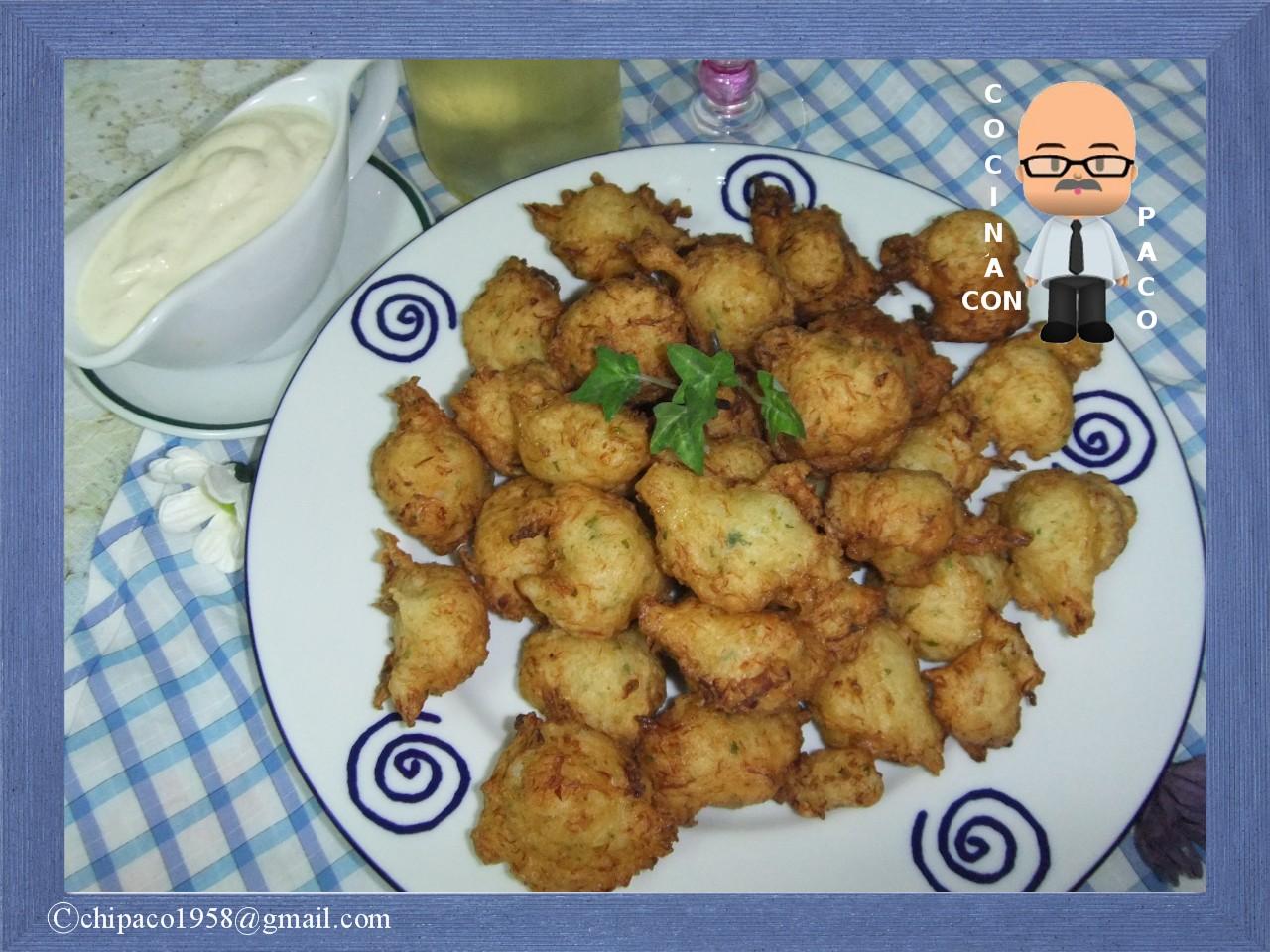 Cocina con paco bu uelos de bacalao - Cocina con paco ...