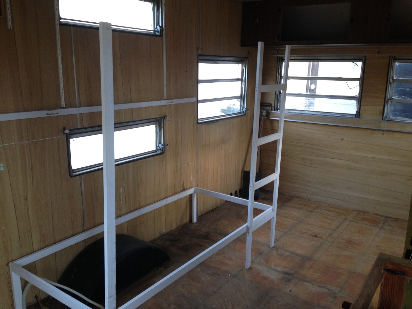 Organising the four of us: Restoring an old caravan