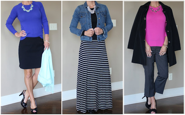 Business casual outfits, fall outfits, winter outfits, statement jewelry,