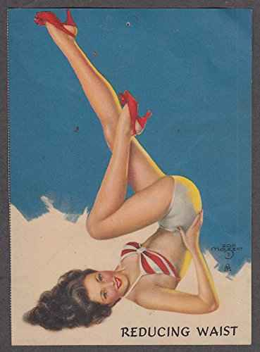 brunette pin-up exercising