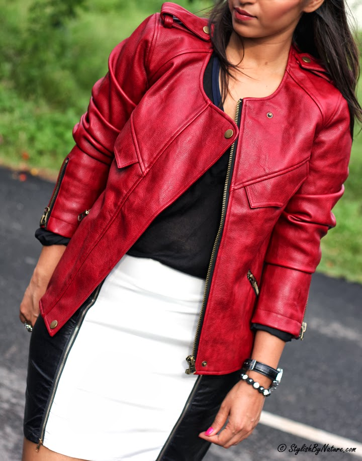 How to wear Fall Leather skirt