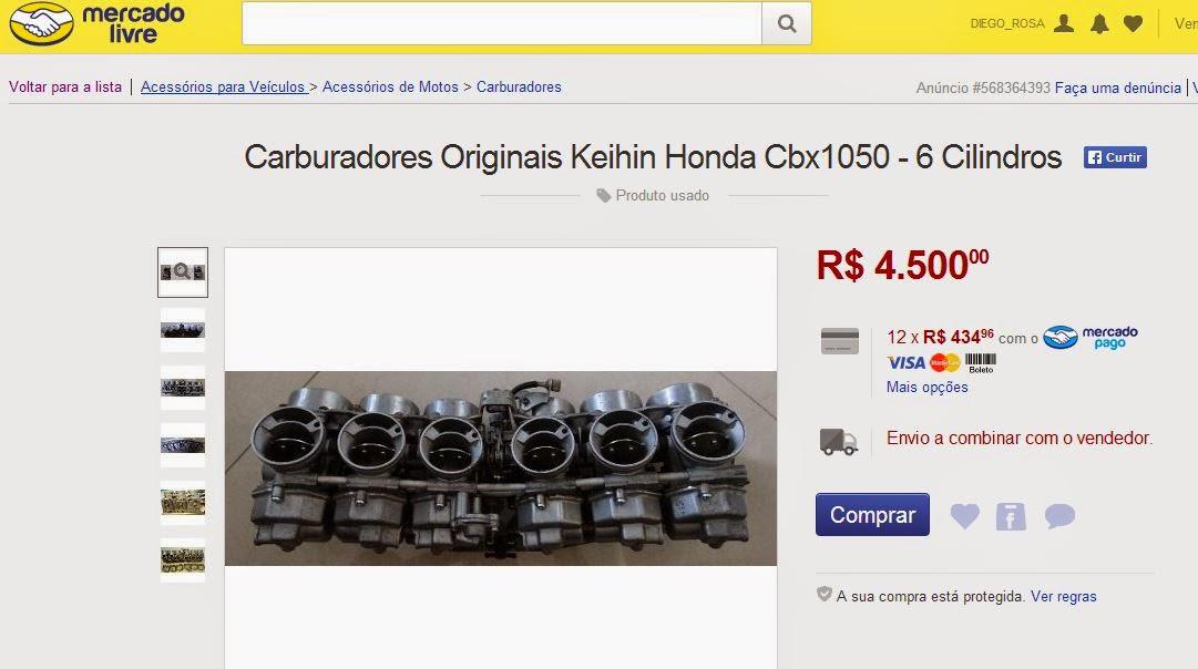 carburador+cbx1050 - COLECIONAR: COMO COMEÇAR?