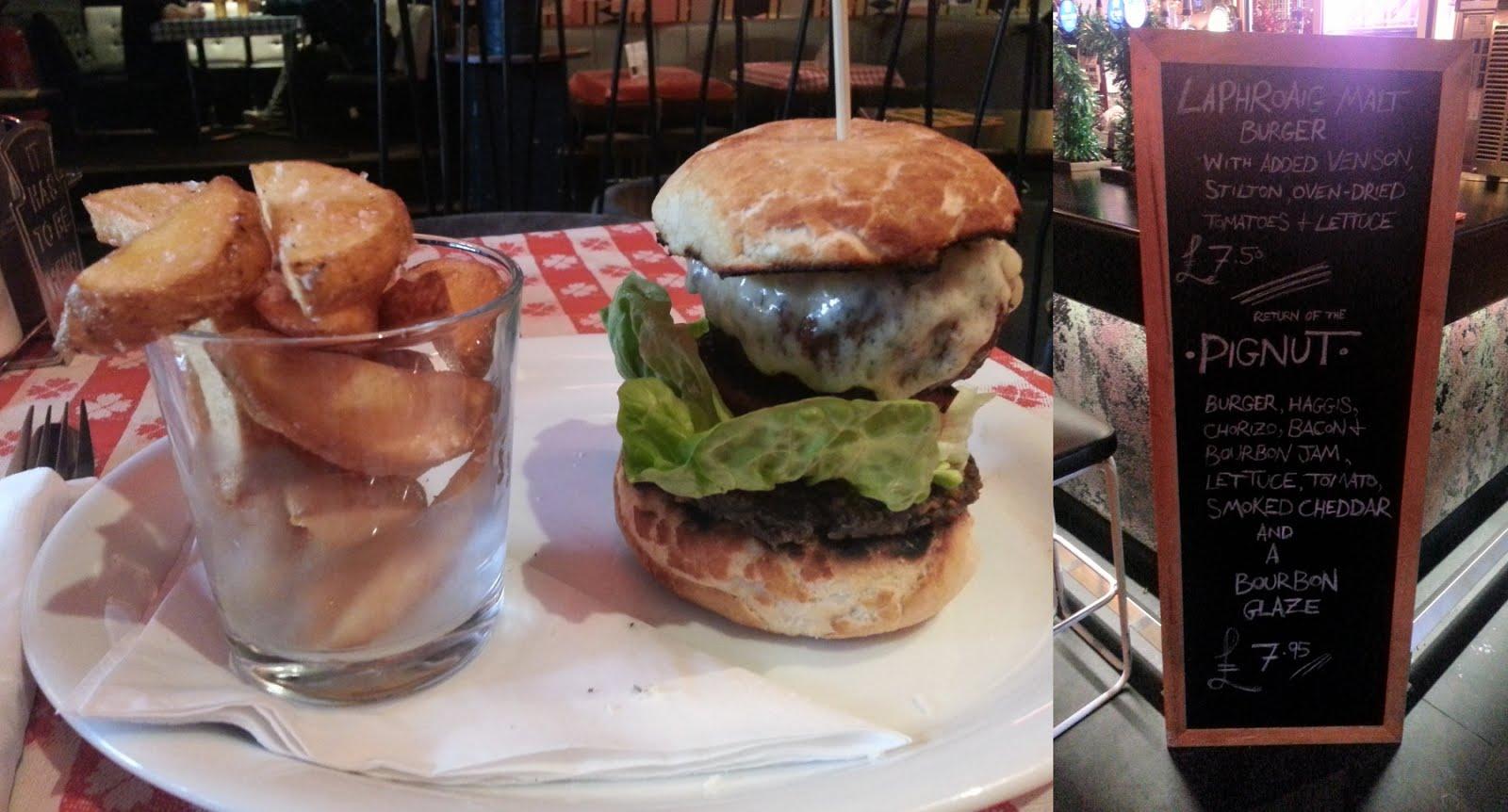 Nice 'n Sleazy, Glasgow, PIgnut burger