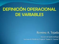DEFINICION CONCEPTUAL Y OPERACIONAL DE VARIABLE