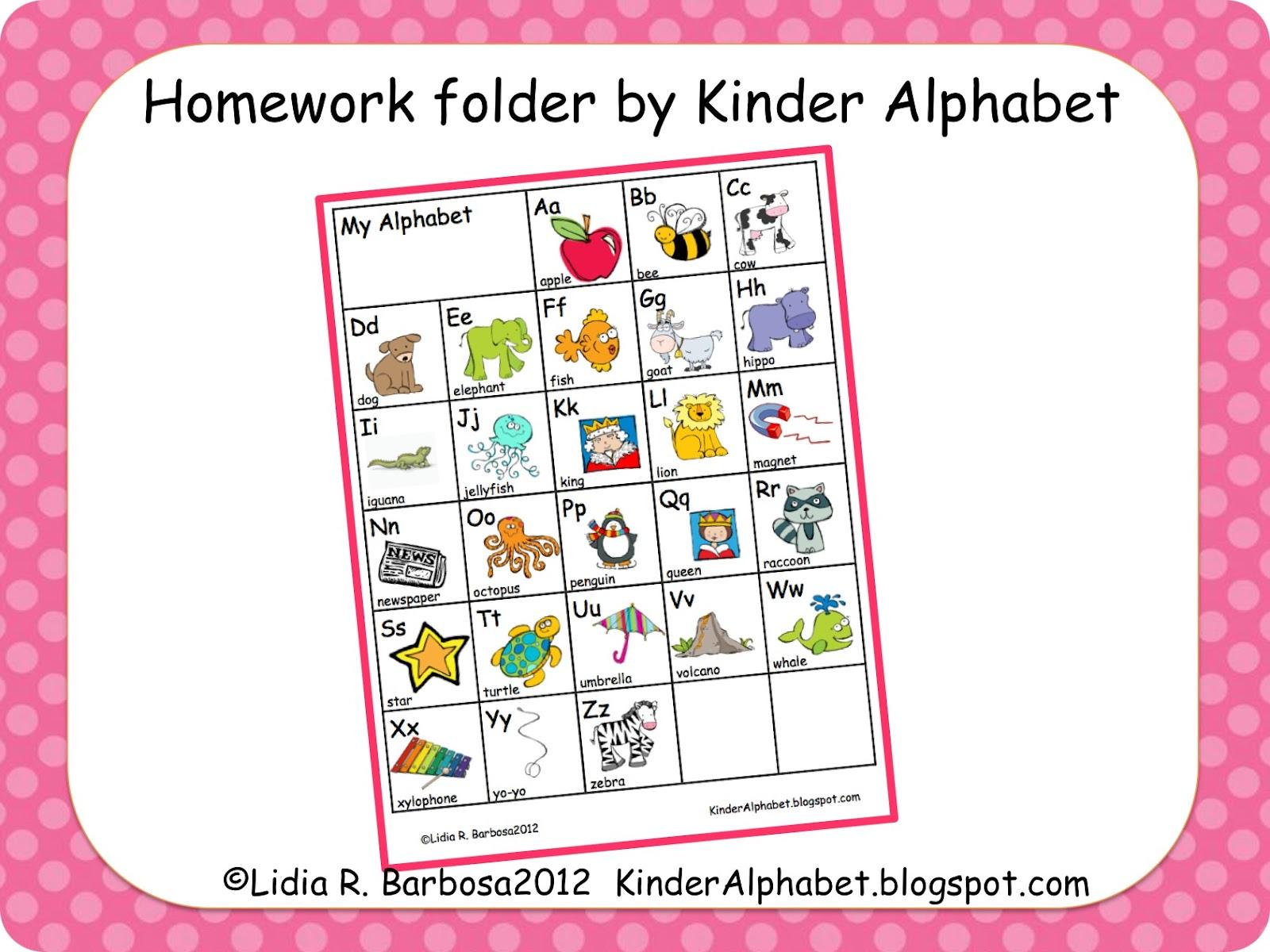 Worksheet Kindergarten Alphabet Chart guest blogger kinder alphabet homework folders miss kindergarten folders