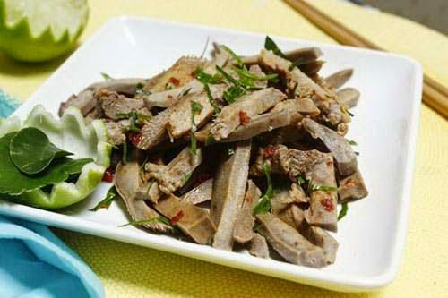 Vietnamese Food - Lưỡi Lợn Trộn Lá Chanh