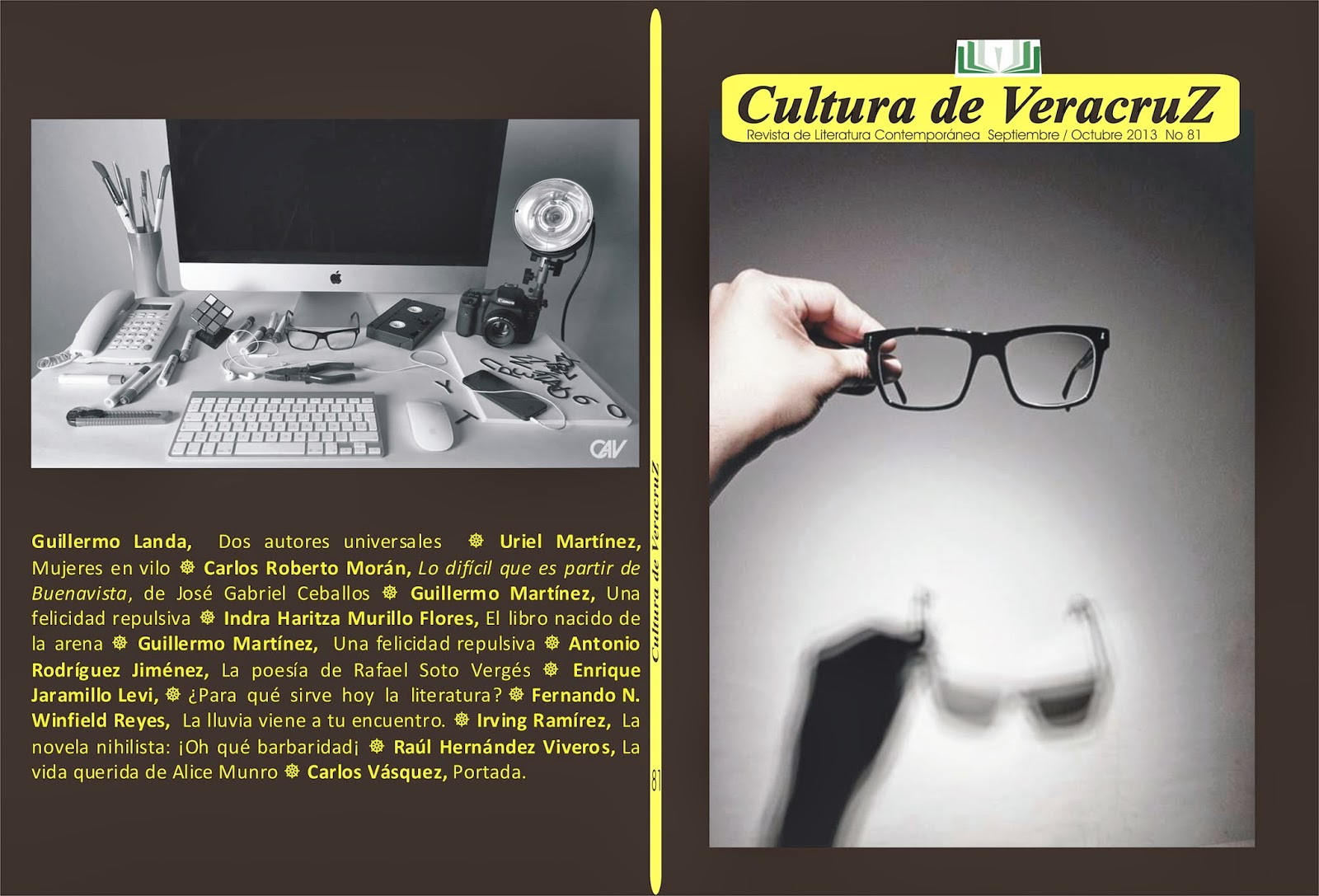 REVISTA Cultura de VeracruZ 81, Da click en la portada para descargar