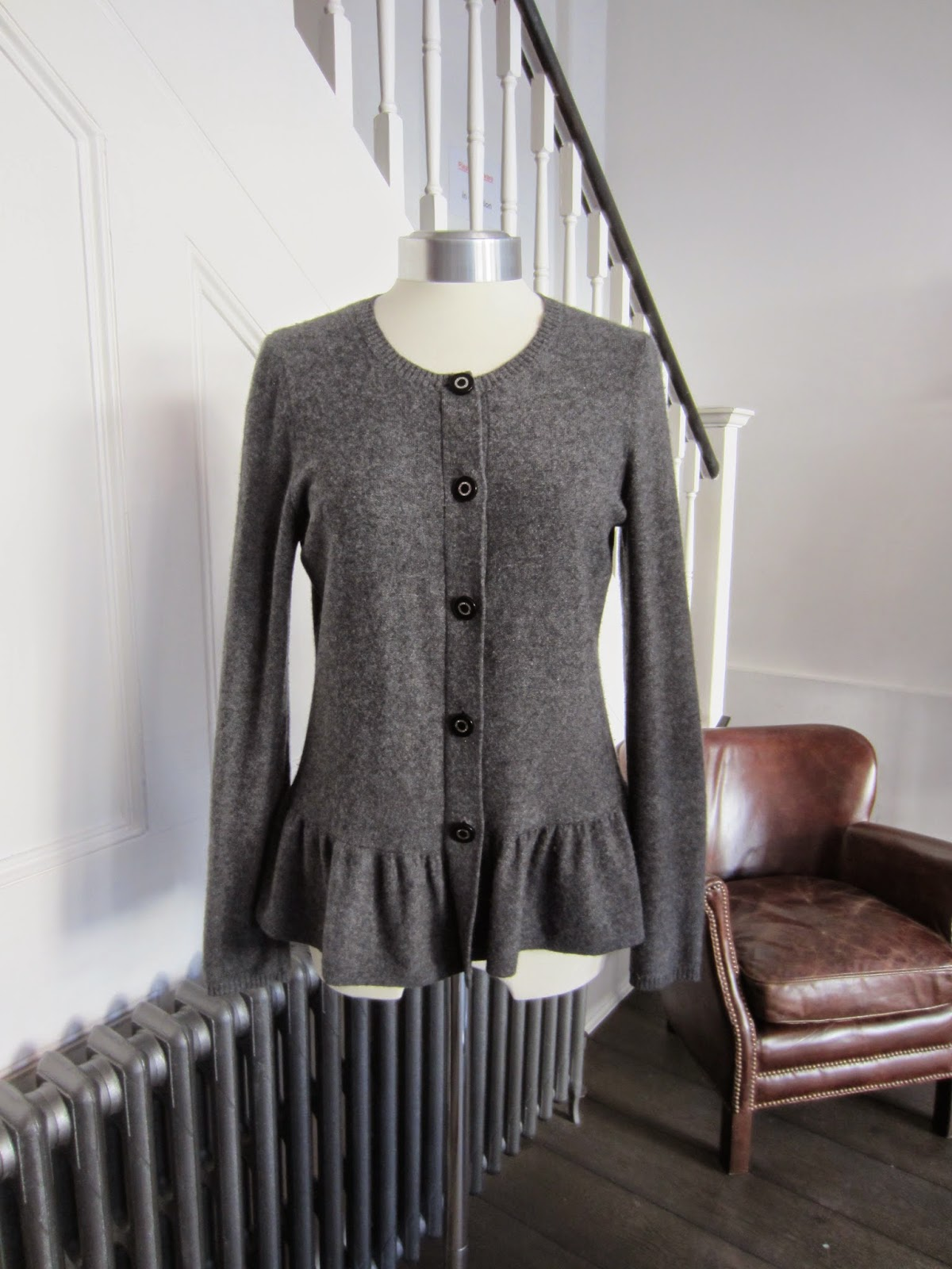 Tory Burch Grey Cashmere Cardigan