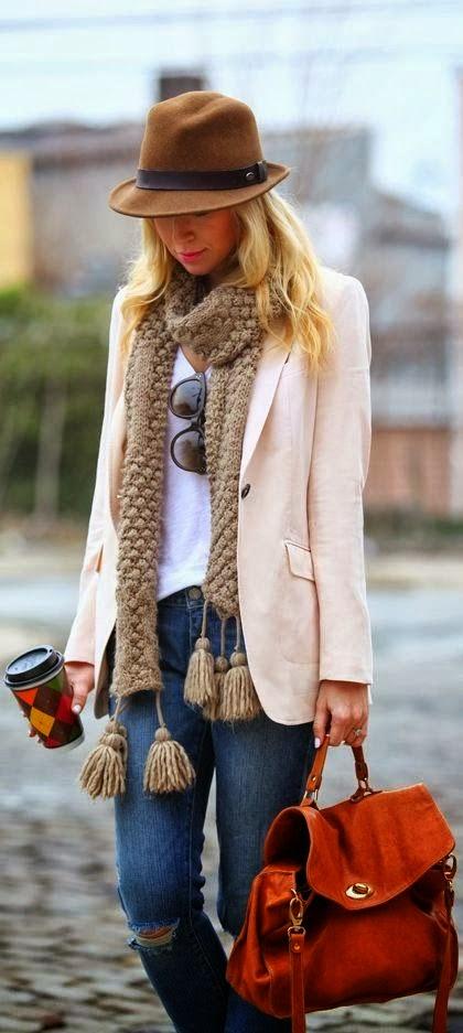 Leaher handbag with Jeans