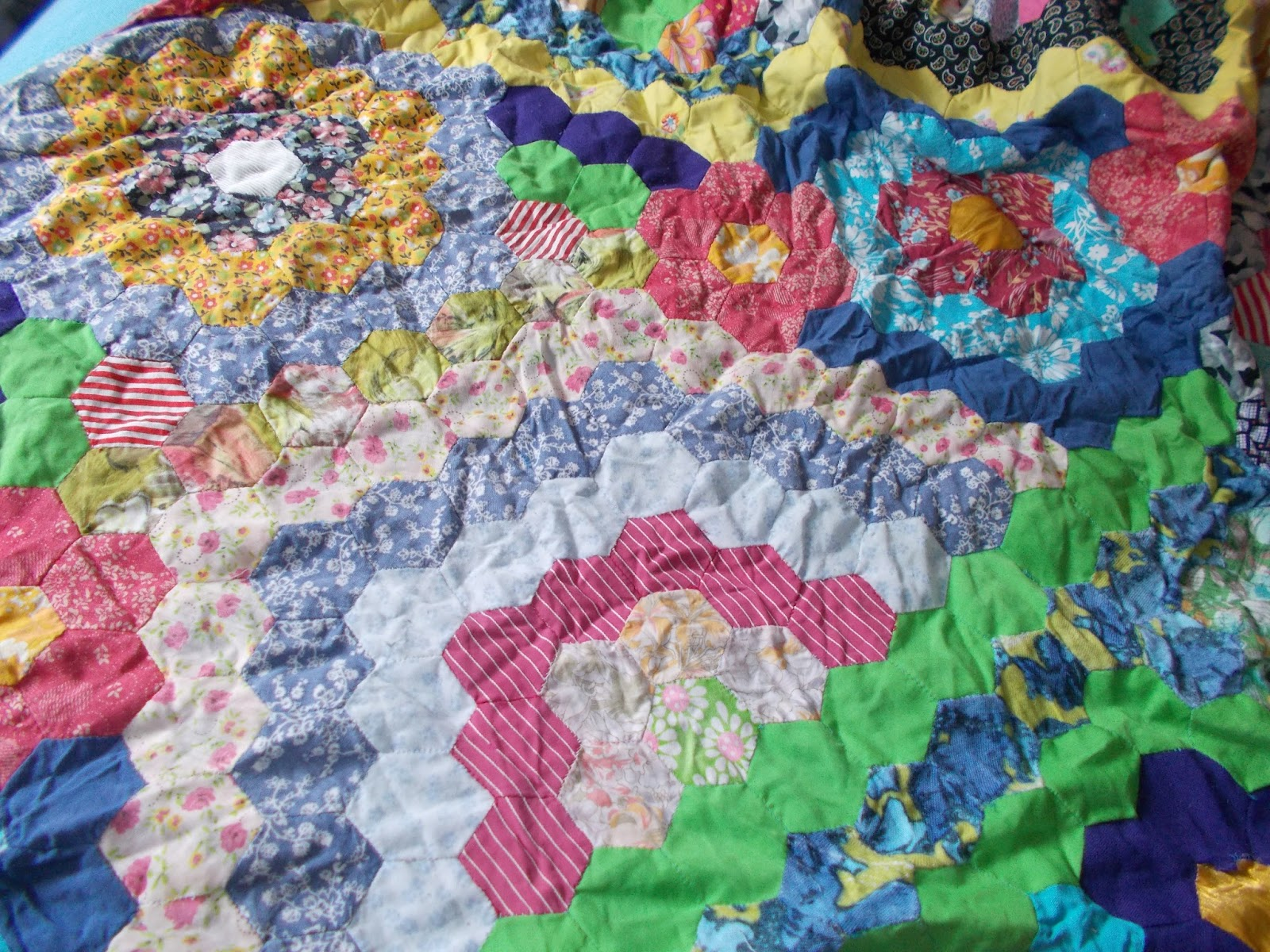 katies recycle  quilting under stress