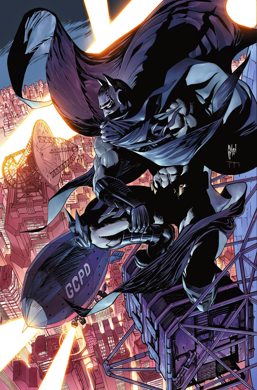 Cover process: BATMAN ETERNAL 12 by Guillem March
