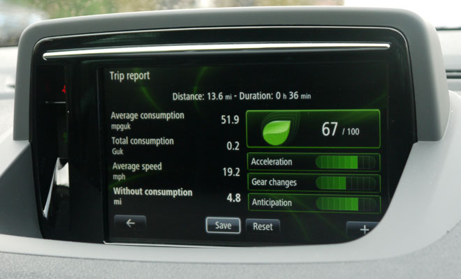 2014 Renault Megane centre screen