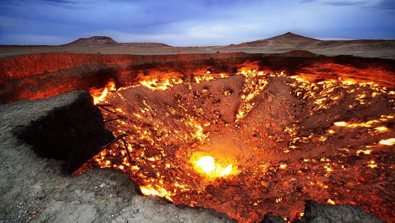 Kawah Api Gurun Karakum