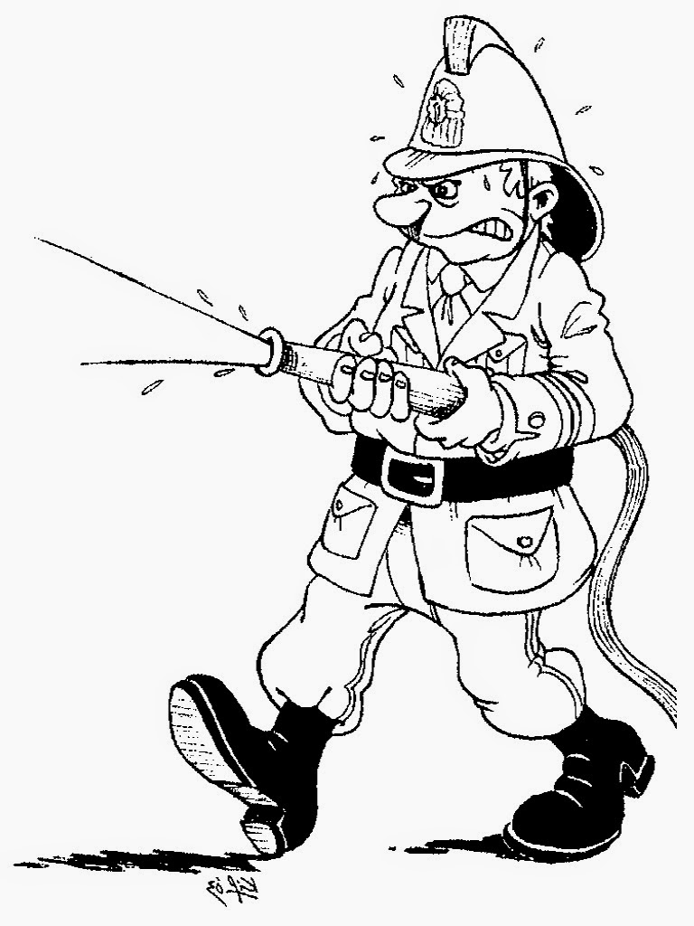 firefighters coloring pages preschool