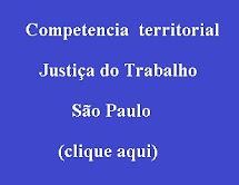 Competencia Territorial TRT SP