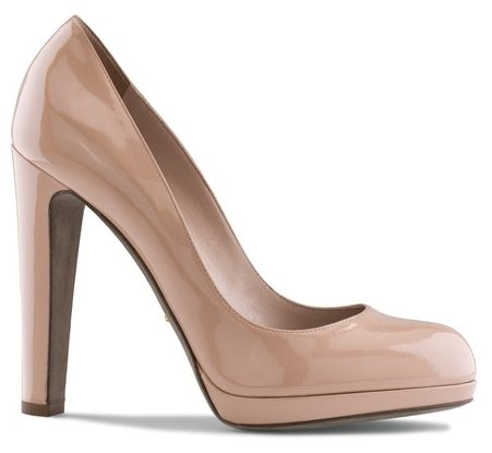 Nude patent leather Passe-Partout pump