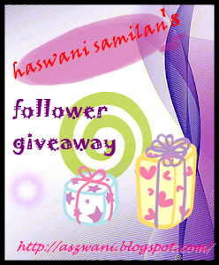 'haswani samilan: follower giveaway