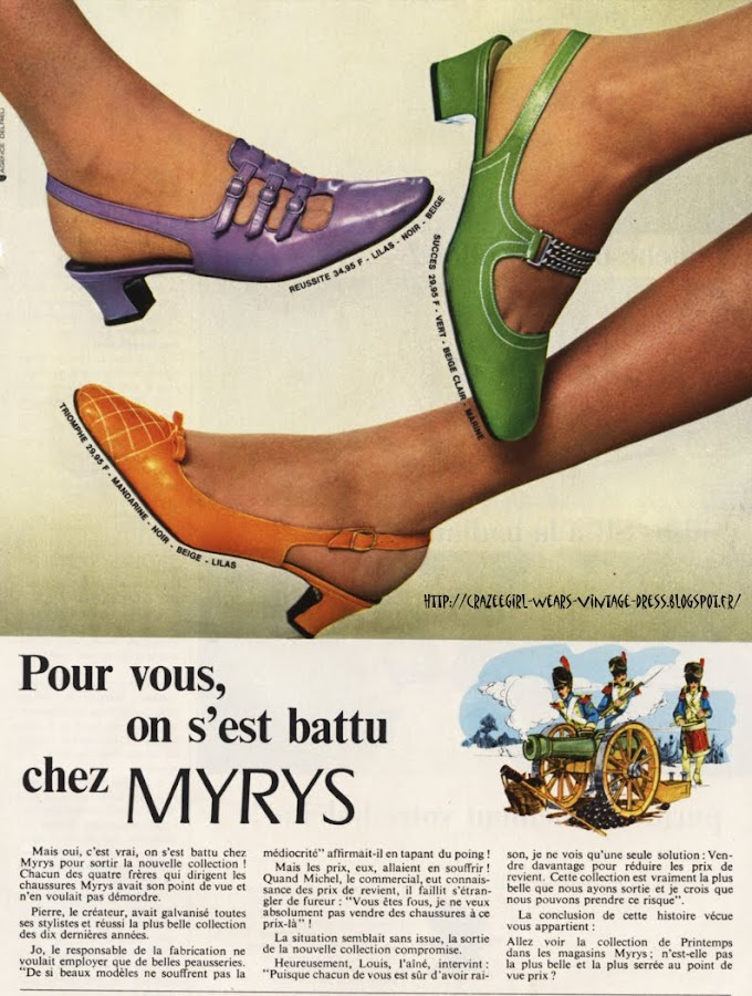 Myrys shoes - 1967 60s 1960 mod