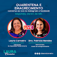 Live , dia 06/07/20, às 19:00, no Instagram:@rjlauracarneiro