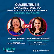 Live , dia 06/07/20, às 19:00, no Instagram:@rjlauracarneiro