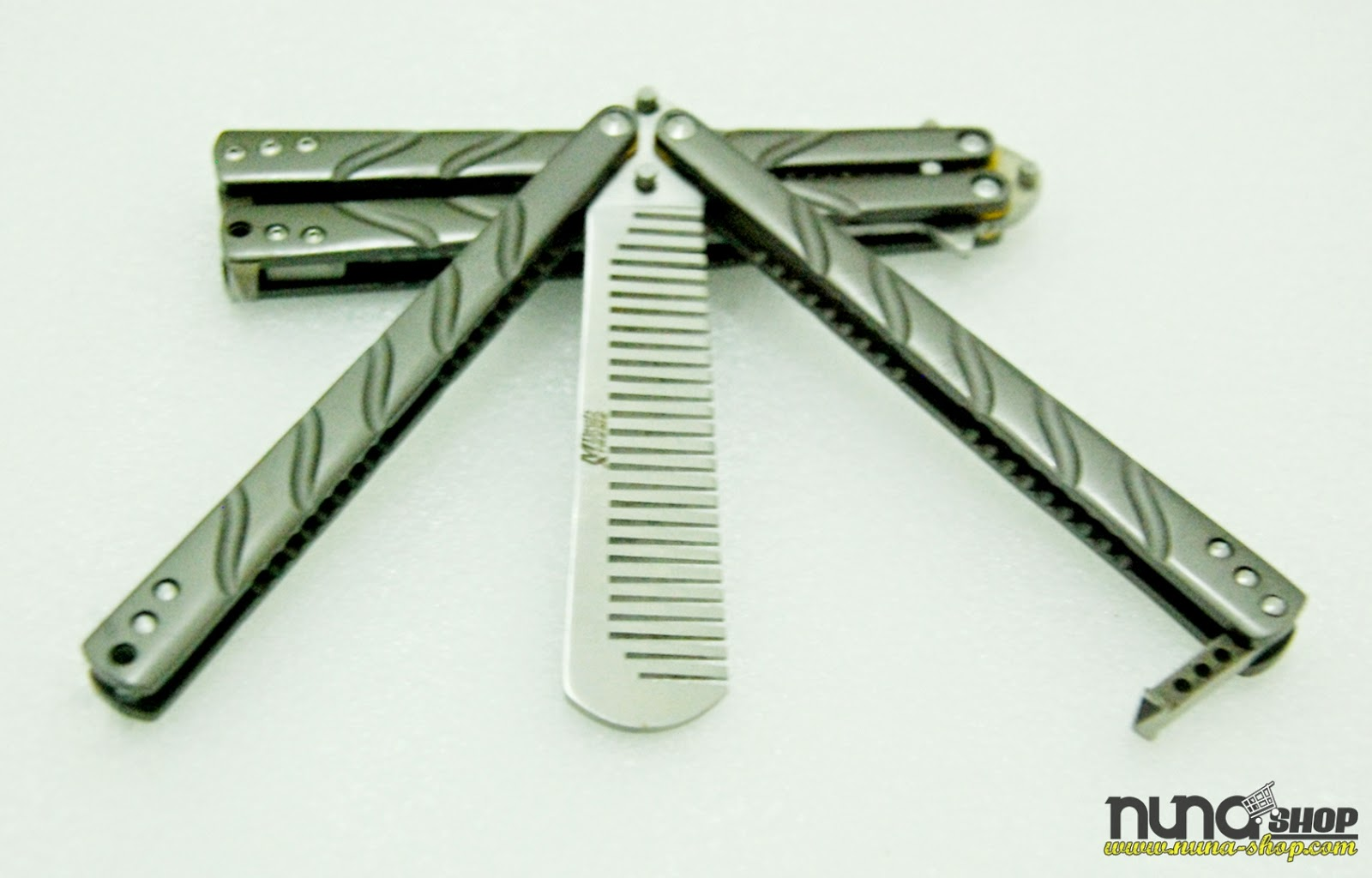 M Tech Extreme Butterfly Comb Hitam  Balisong Knife Comb  Balisong Sisir