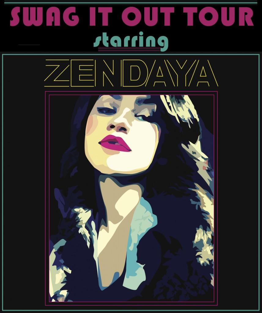 Zendaya Coleman Swag It Out Tour posterZendaya Coleman Swag It Out