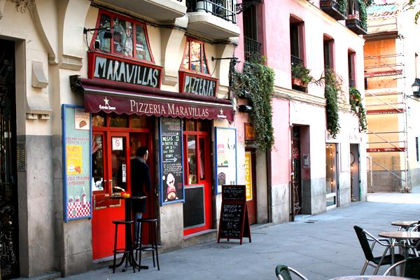 pizzeria maravillas barrio malasaña