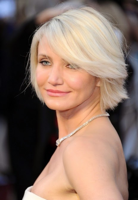 Cameron Diaz latest bob hairstyle 2014