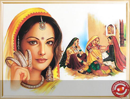 Rajasthani Girls Art Paintings 18