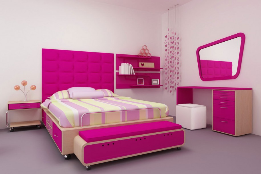 Hd wallpapers collection cool bedrooms for Interior design bedroom pink