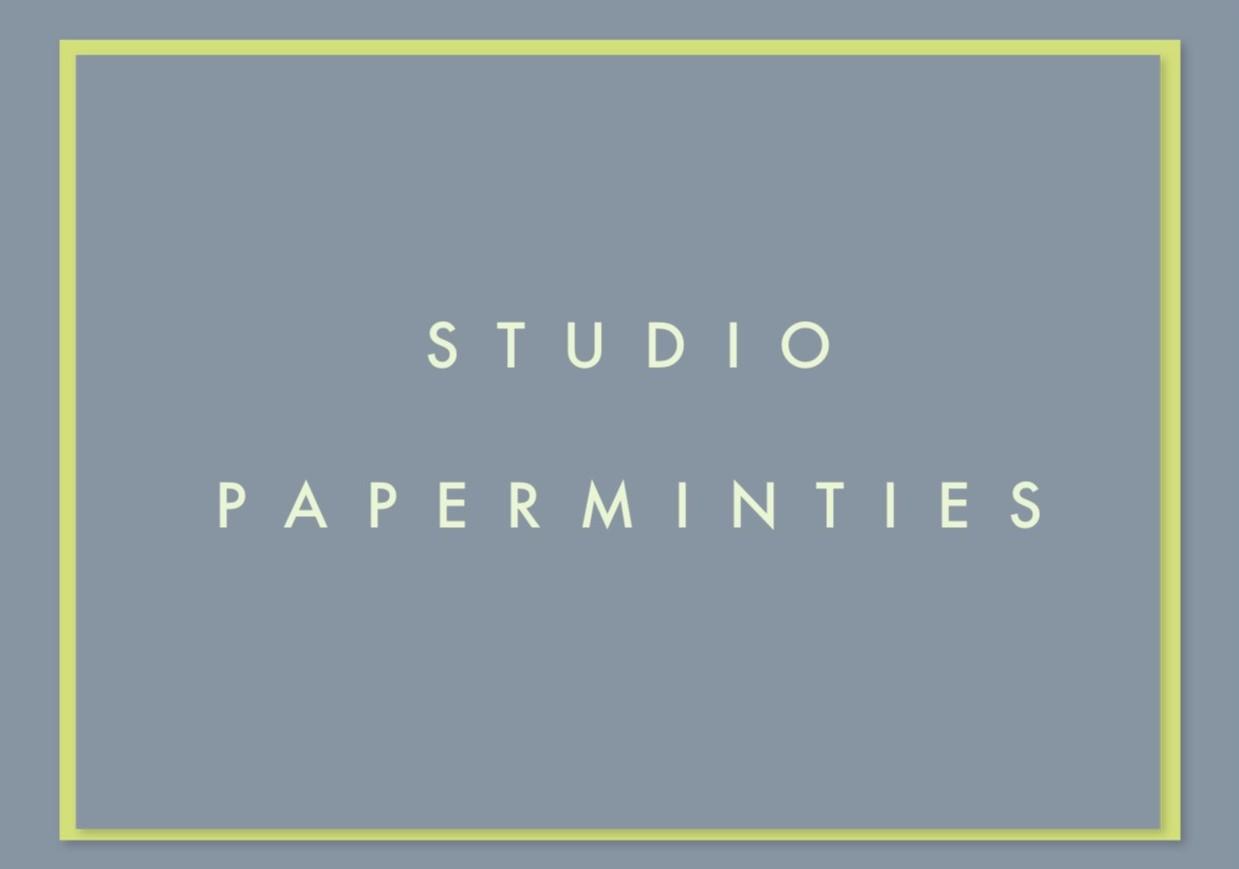 STUDIO PAPERMINTIES