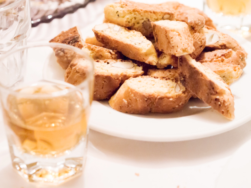 Biscotti to dip in sweet dessert wine...