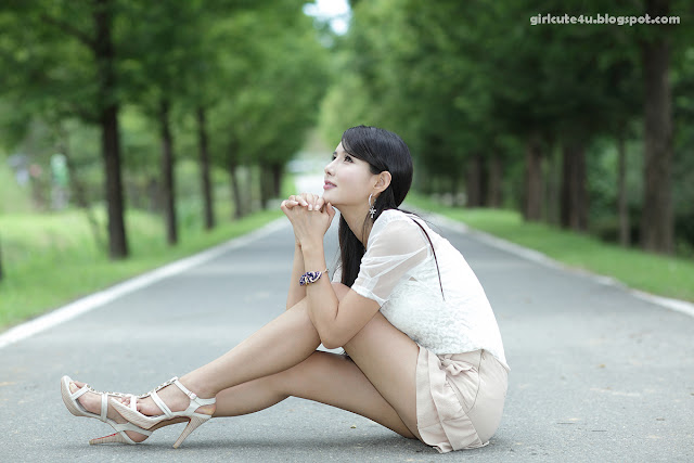1 Cha Sun Hwa-Ruffle Mini Dress-very cute asian girl-girlcute4u.blogspot.com