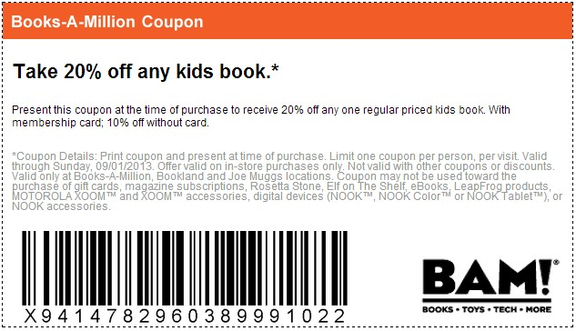 52 Books-A-Million Coupons