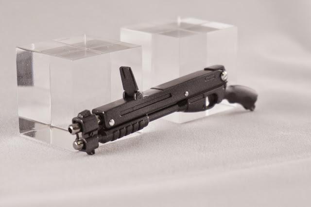 개머리판 부품을 결합하지 않은 건담 프라모델 MG  kampfer의 Shotgun