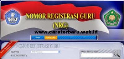 ... NRG Guru Sertifikasi, Tips Cara Mengecek Nomor Registrasi Guru NRG