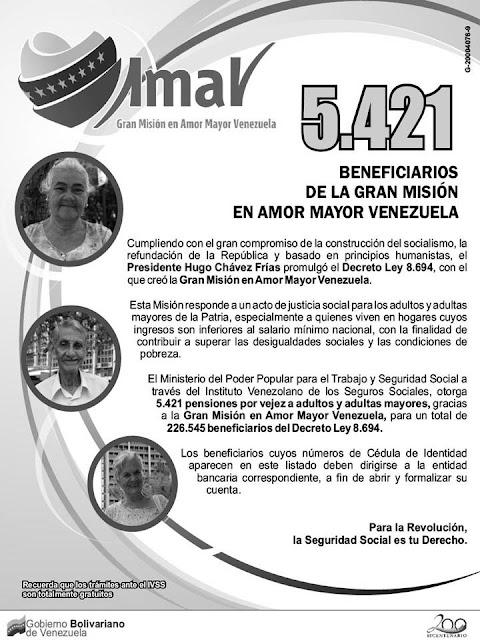 Listas De Nuevos Pensionados Del Ivss Y Amor Mayor Febrero 2016