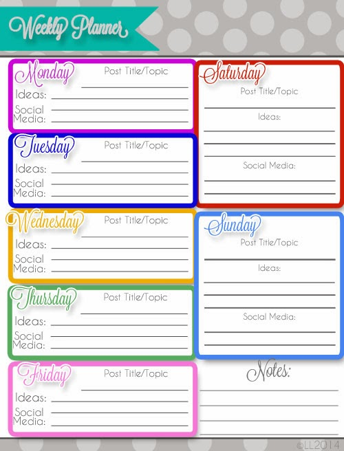 Every printable you could ever need to keep your blog organized (for free)!