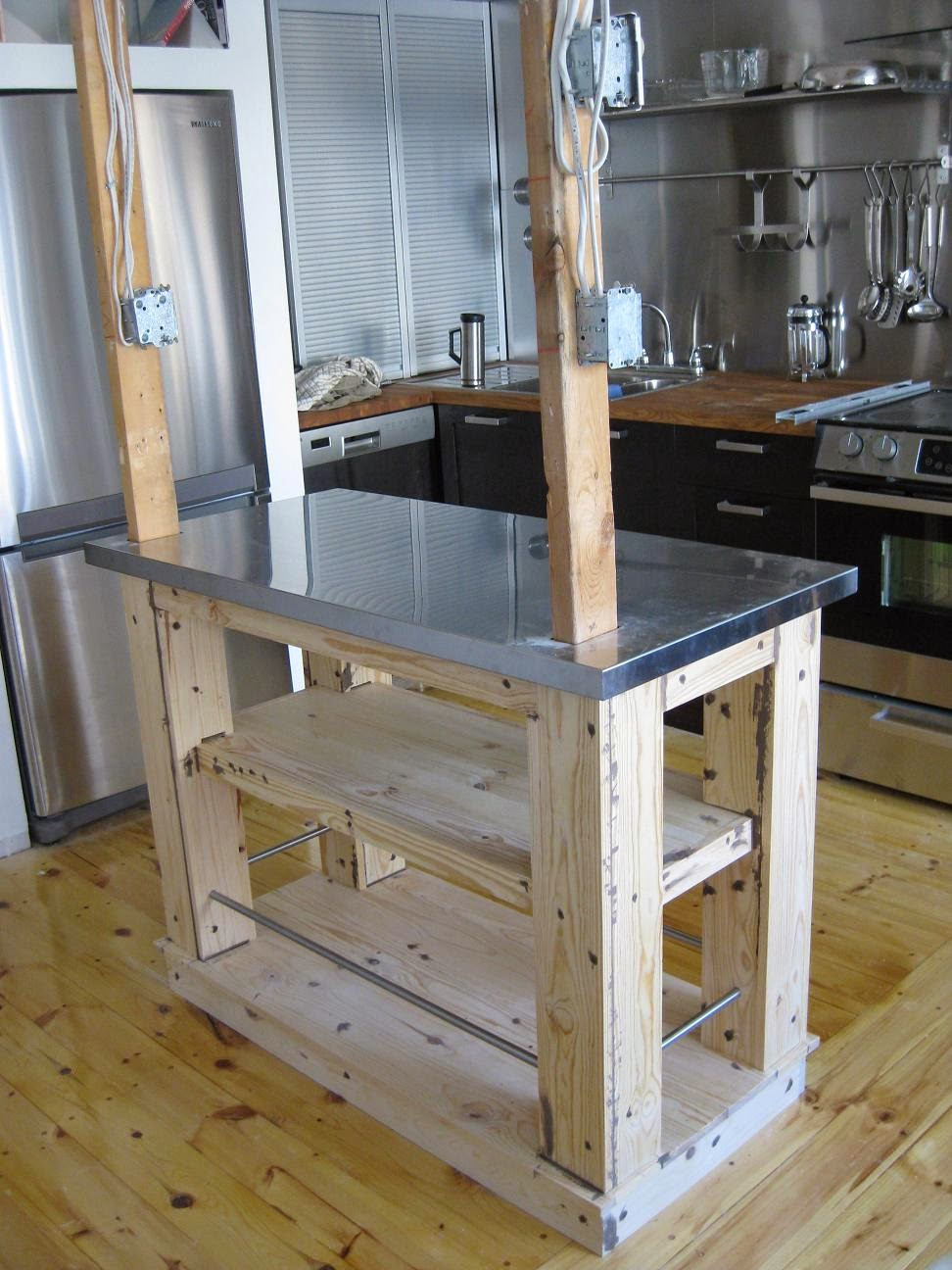 kitchen island with utby top - ikea hackers - ikea hackers